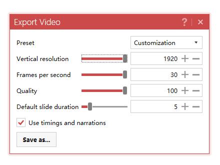 PowerPoint to Video full screenshot
